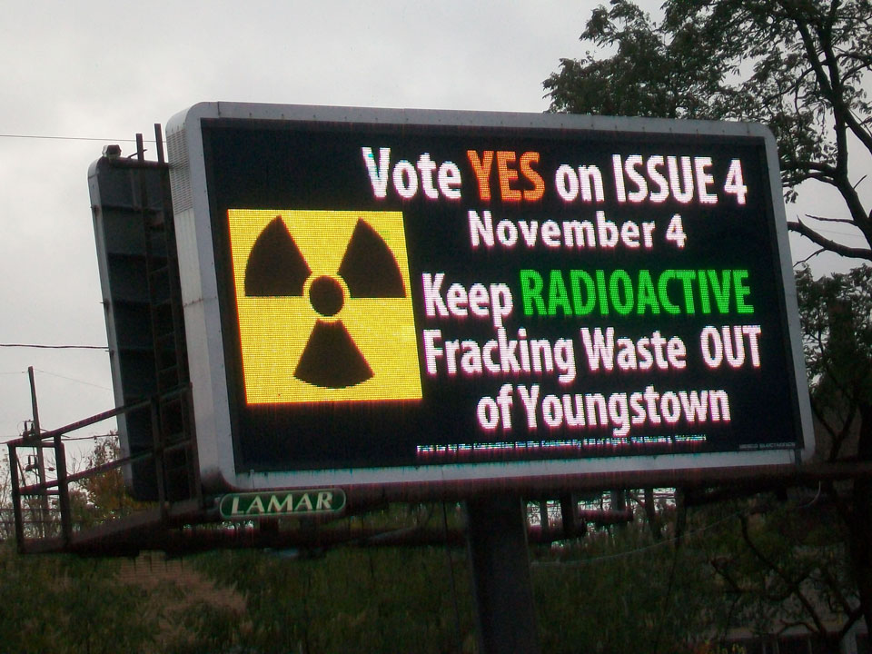 VOTE YES! in letters 50 feet high! ignore at the peril of your own clean water, Youngstowners and Youngstown families! YES on Issue 4 on Nov 4! FOR Youngstown! ~ ~ Please contact Protect Youngstown NOW thru Nov. 3rd and Help the #Youngstown ballot initiative (ISSUE #4 Community Bill of Rights) get a YES! vote on November 4! ~ Can help immediately - need not be a Youngstown resident - call 234-201-0402 or email: frackfreemahoning@gmail.com to arrange your canvassing/ flyer-ring hours and get your list of confirmed addresses and map. This is NOT cold-calling - these are known confirmed individually addressed voters.  Help Phone Bank NOW! Call for phone number lists: 234-201-0402 frackfreemahoning@gmail.com  READ MORE on how to help: http://www.protectyoungstown.org/canvas-now.html  ~ READ bill HERE: http://www.protectyoungstown.org/  ~ DONATIONS to fund canvassing operations may be mailed: checks can be made out to the Community Bill of Rights Committee and sent to PO Box 43, Youngstown, OH 44501. Or sent online securely at GoFundMe at http://www.gofundme.com/ProtectYoungstown